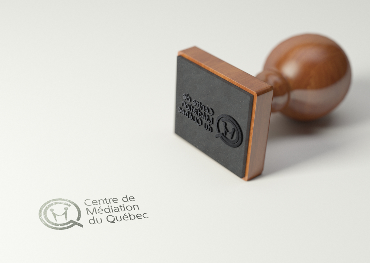 A logo that reflects the meditation between individuals, and especially the mission of the Quebec Mediation Center