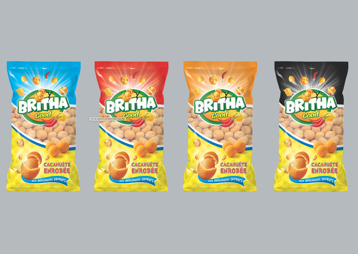 Britha, a brand of peanut in Morocco who entrusted us the dressing of his product
