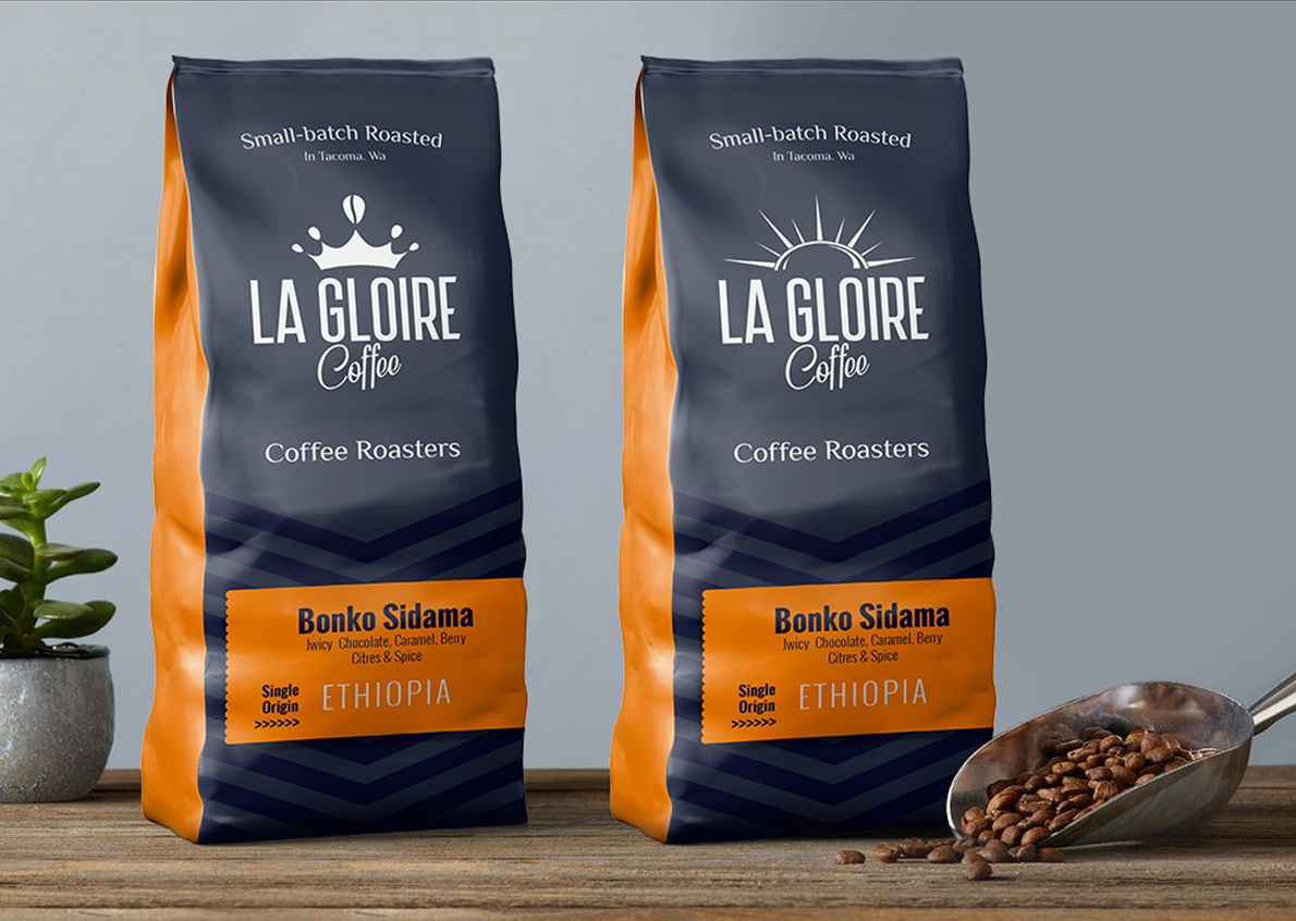 New packaging for this international coffee brand