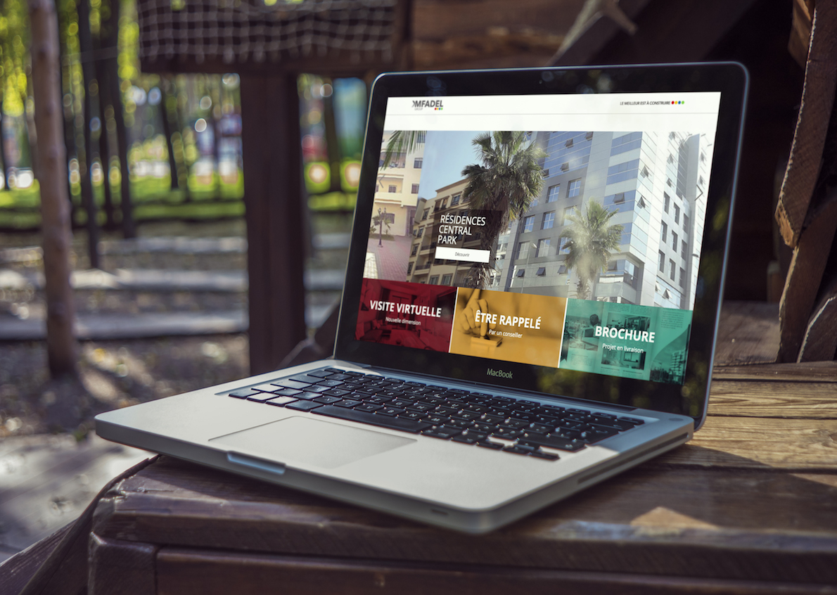 Realization of a website for the MFadel brand