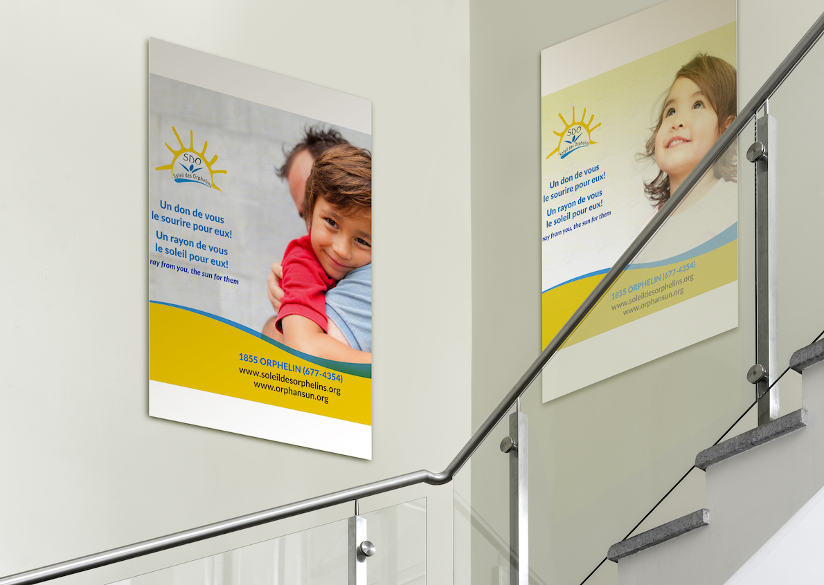 Qenza is proud to have been able to help this humanitarian association by producing promotional posters for her