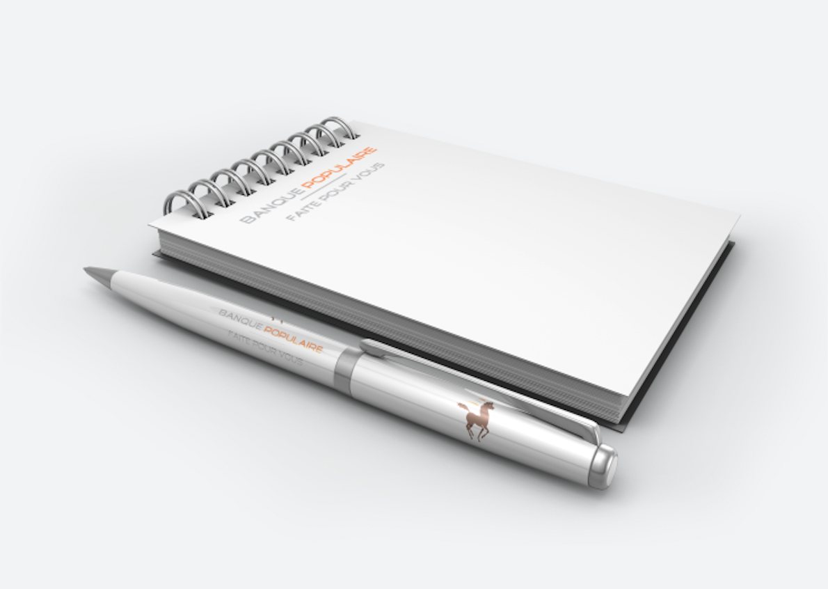 Stationery made for the Banque Populaire
