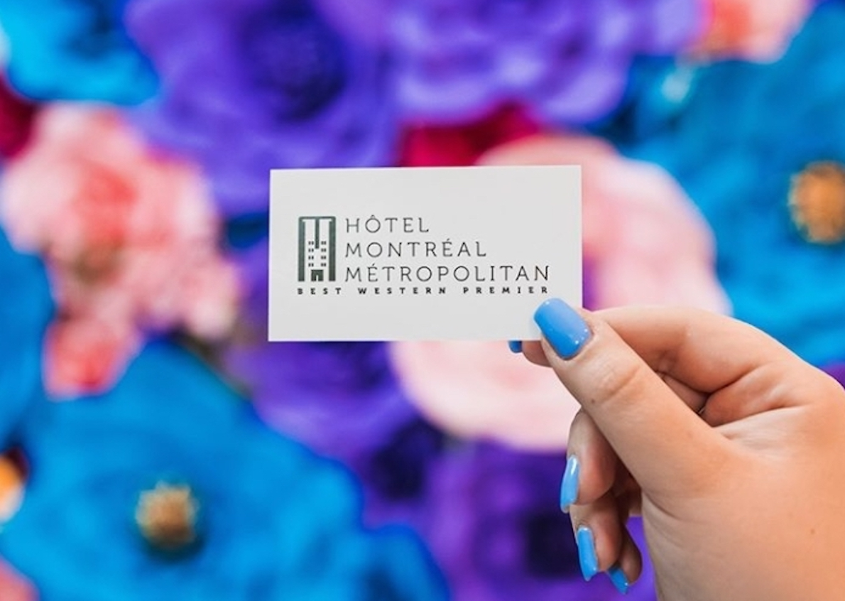 Creation of the logo for the Montreal Metropolitan Hotel