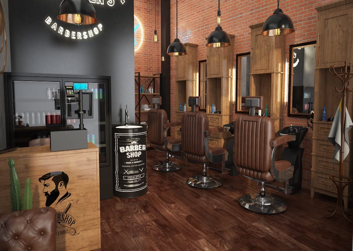 The Gentlemen's Barber let us create the design of his hair shop