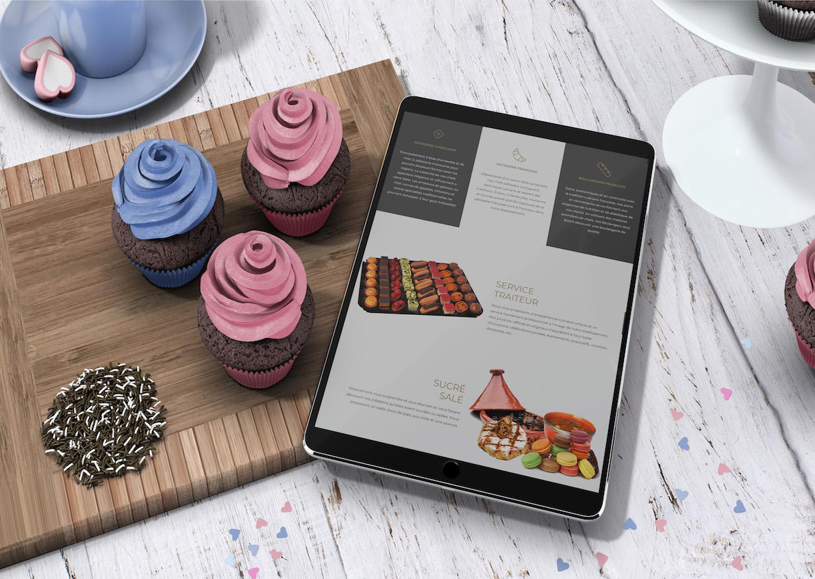 Development of the website for a result of the most refined in the image of Patisserie Casa