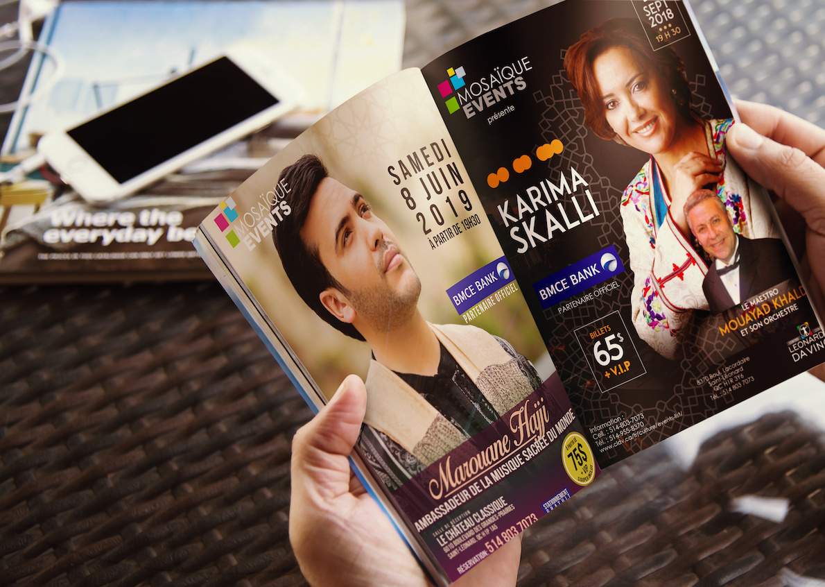 Realization of promotional posters for Mosaïque Event