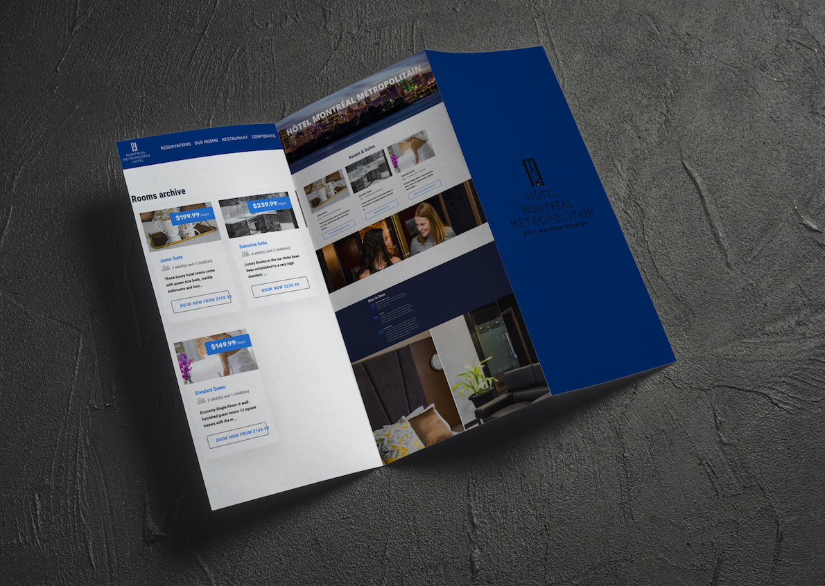 Qenza's mandate was to produce modern flyers reflecting the brand image of the hotel