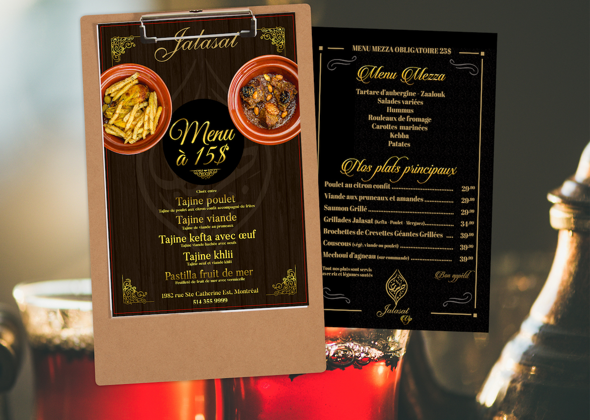 Qenza was responsible for producing a refined menu like the restaurant Jalasat